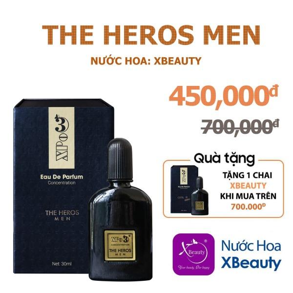 Nước hoa Nam Nữ cô đặc thơm lâu cả ngày XBeauty XPo3 30ml (Có 10 mùi hương) - Nhỏ gọn, tiện lợi, giá thành phù hợp cao cấp