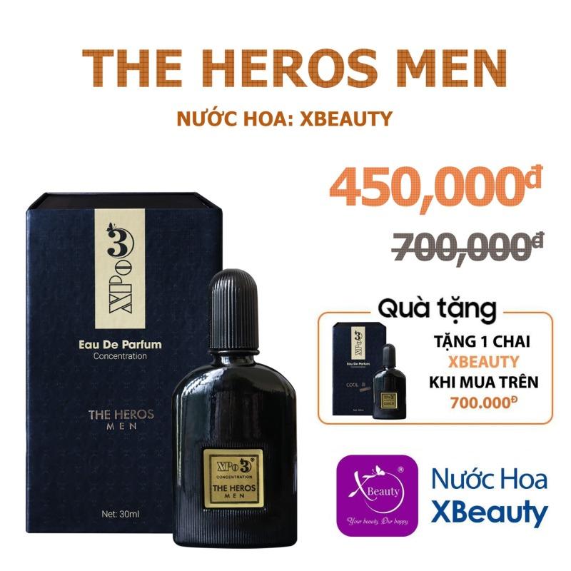 Nước hoa Nam Nữ cô đặc thơm lâu cả ngày XBeauty XPo3 30ml (Có 10 mùi hương) - Nhỏ gọn, tiện lợi, giá thành phù hợp giá rẻ