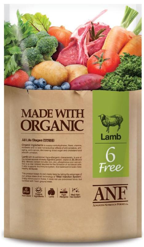 Hạt ANF 6Free Organic vị Cừu 6kg (Chó)