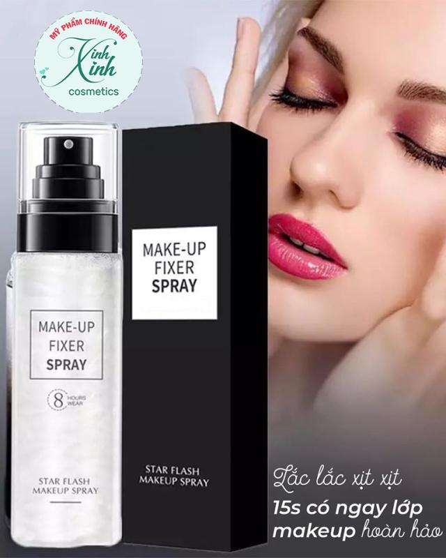 Xịt khóa lớp makeup, xịt khoá makeup xịt giữ lớp trang điểm lâu trôi kiêm xịt khoáng dưỡng da FIXER SPRAY cao cấp