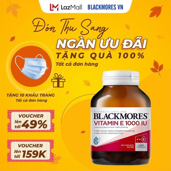 Blackmores Vitamin E 1000IU 30 Capsules - Viên uống bổ sung vitamin E Blackmore Úc giúp da sáng khỏe cao cấp
