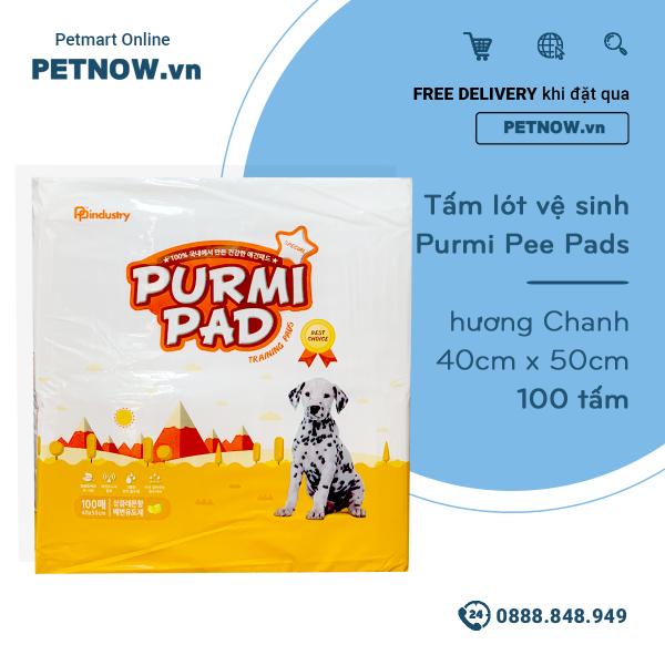 Tấm lót vệ sinh Purmi Pee Pads 40cm x 50cm - 100 tấm hương Chanh PETNOW.VN
