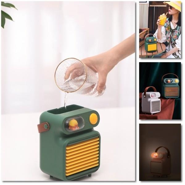 Quạt điều hòa hơi nước mini 🌞 kiêm phụ kiện trang trí nhà cửa🌞 quạt hơi nước mini kiểu dáng so cute ,nhỏ gọn, dễ mang
