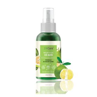 Xịt tóc Chiết xuất Vỏ bưởi 24Care 50ML - Xịt tóc tinh dầu thiên nhiên hữu cơ, cho tóc dày mượt và ngăn ngừa gãy rụng