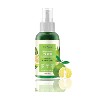 Xịt tóc Chiết xuất Vỏ bưởi 24Care - Xịt tóc tinh dầu thiên nhiên hữu cơ, cho tóc dày mượt và ngăn ngừa gãy rụng thumbnail