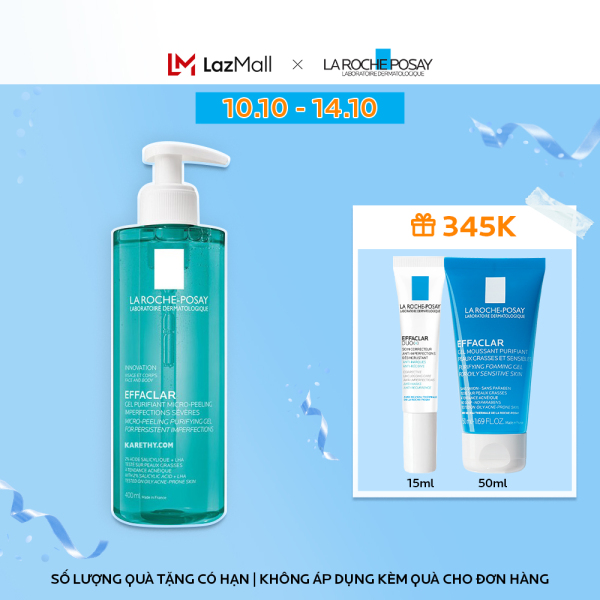 Gel rửa mặt và tắm La Roche Posay Effaclar Micro-Peeling Purifying Gel 400ml