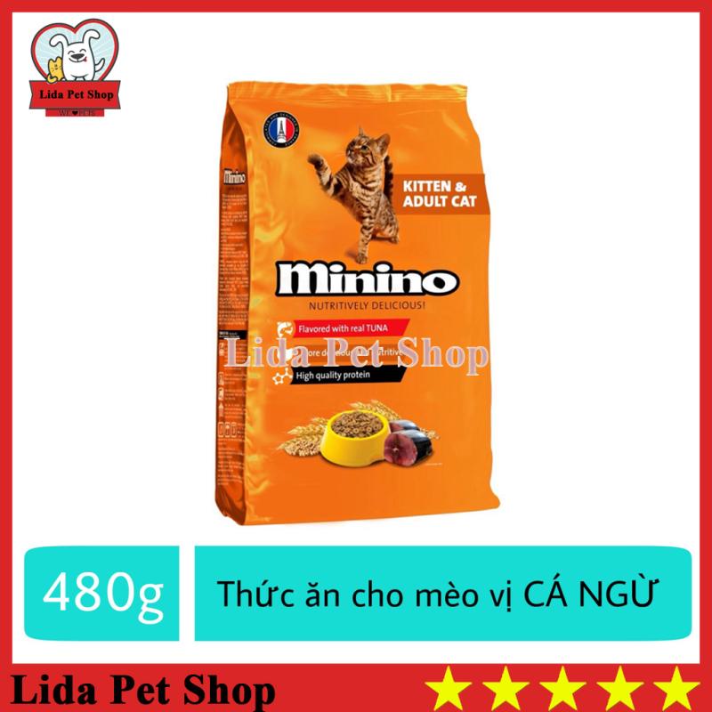HN- Thức ăn vị cá ngừ dành cho mèo mọi lứa tuổi - thức ăn cho mèo minino 480g - Lida Pet Shop