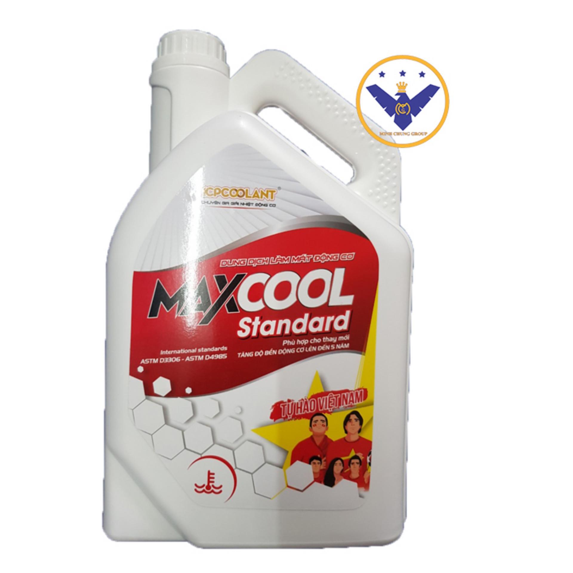 Nước làm mát động cơ xe ô tô màu đỏ Maxcool 4 Lít