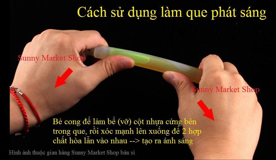 Que phát sáng Sunny loại to đương kính 1.8 cm, dài 1.5 cm phát sáng vào ban đêm hoặc phòng tối (1 Que) - 3