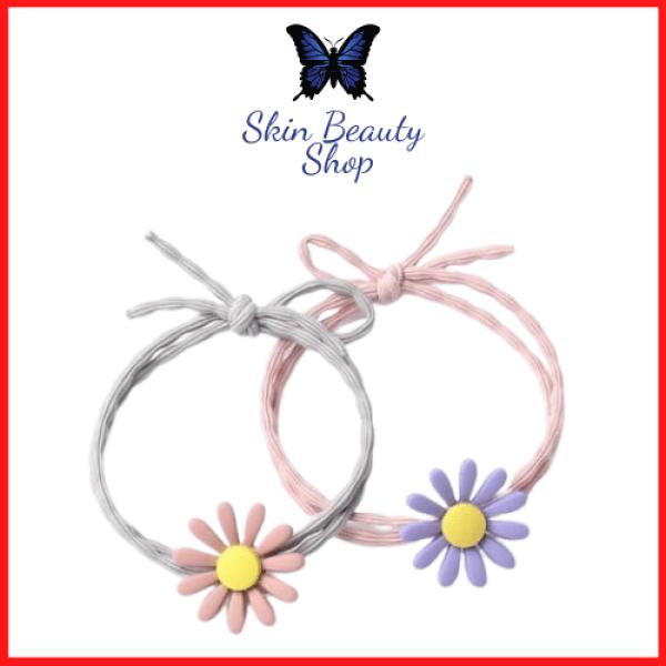 Dây buộc tóc Hàn Quốc hoa cúc nhí HOT TREND - Chun đôi cực bền - co giãn thoải mái SKIN BEAUTY SHOP
