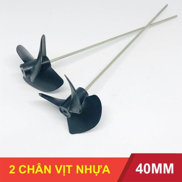 Bảng giá Bộ 2 chân vịt nhựa 3 cánh 40mm kèm trục 2mm chế thuyền - LK0118