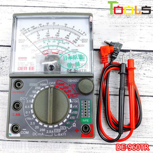 Đồng hồ vạn năng DER EE DE-960TR ( tặng kèm pin ) - Đồng hồ đo điện vạn năng