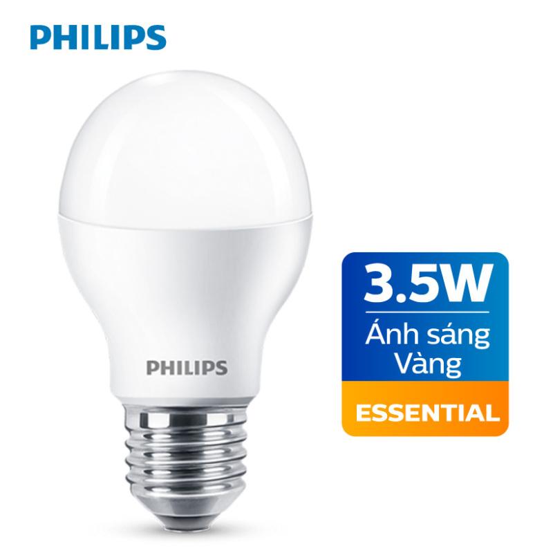 Bóng đèn Philips LED Essential 3.5W 3000K E27 A60 - Ánh sáng vàng