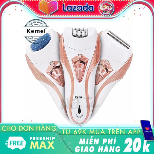 Máy tẩy lông 3in1 kiêm chà gót chân Kemei KM-3010 - Hãng phân phối chính thức