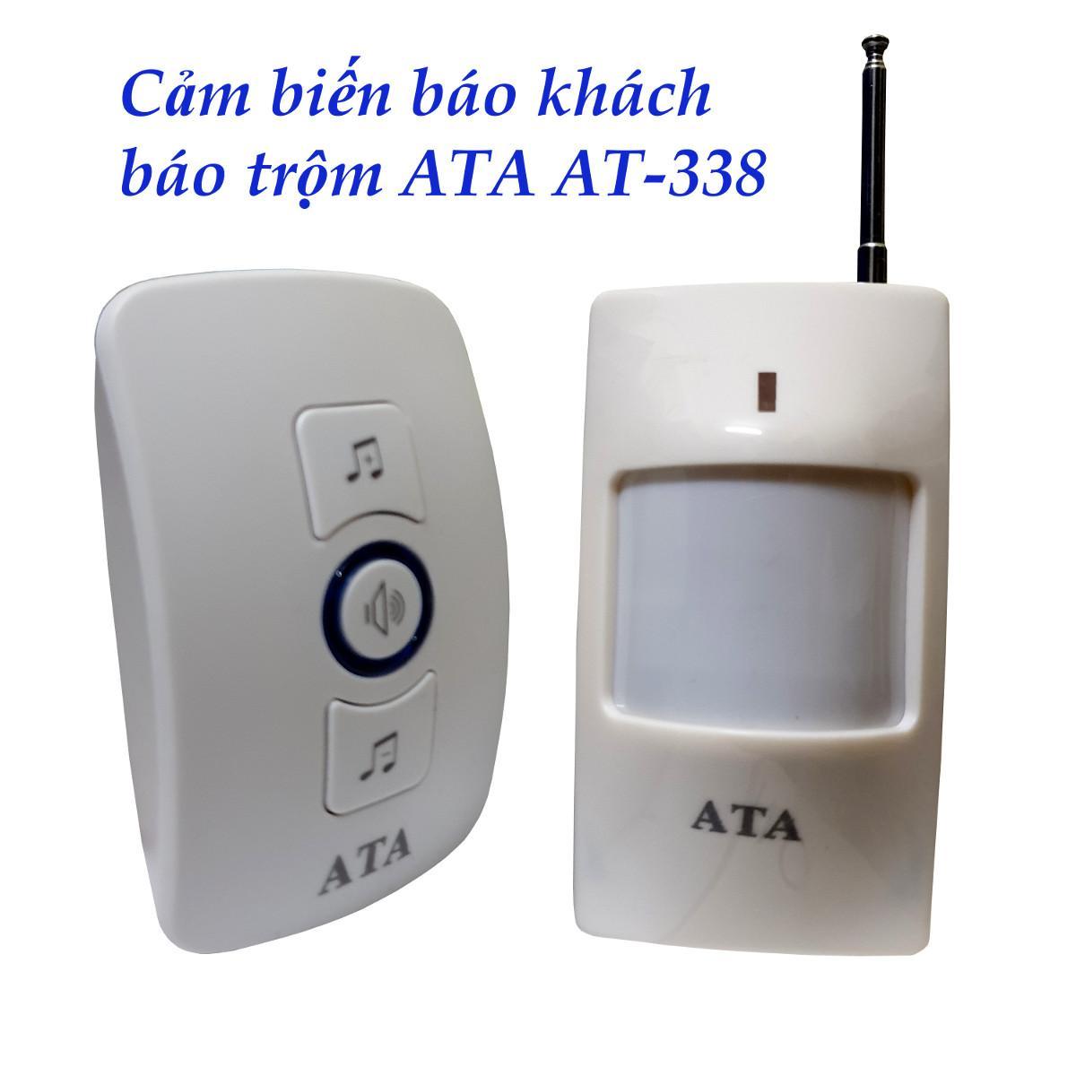 Chuông báo khách báo trộm AT-338 - Cảm biến hồng ngoại không dây tích hợp đa năng với chuông, cảm biến, nút nhấn, cửa từ.