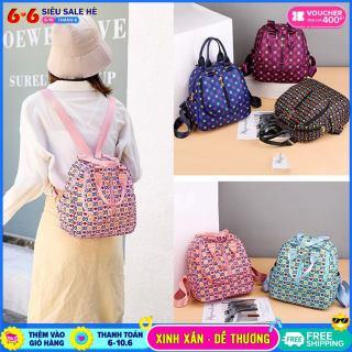 Balo mini NASI B1044 - ba lô nữ vải dù mẫu mới thời trang, balo nữ nhỏ mini xinh xắn đi chơi, balo nữ đi học thumbnail