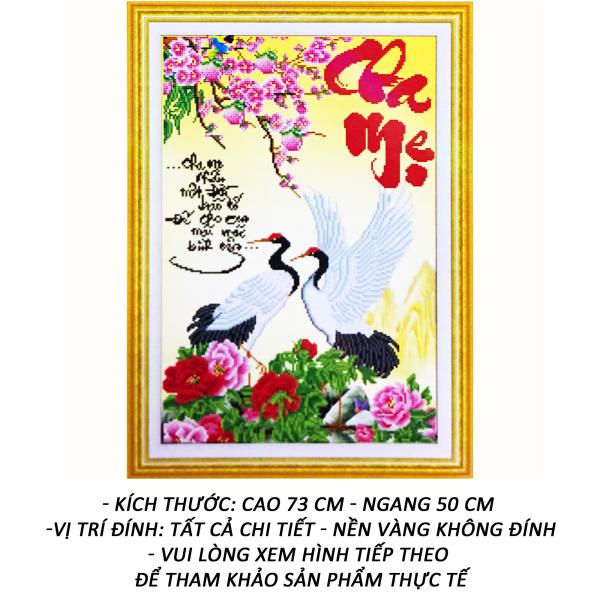 Tranh Đính Đá 5D - Cha Mẹ 39 - Tranh Minh Hiền (TỰ ĐÍNH ĐÁ) - Tặng 2 Viết Đính Đá Siêu Cấp - Đính 7 Viên Cùng Lúc.