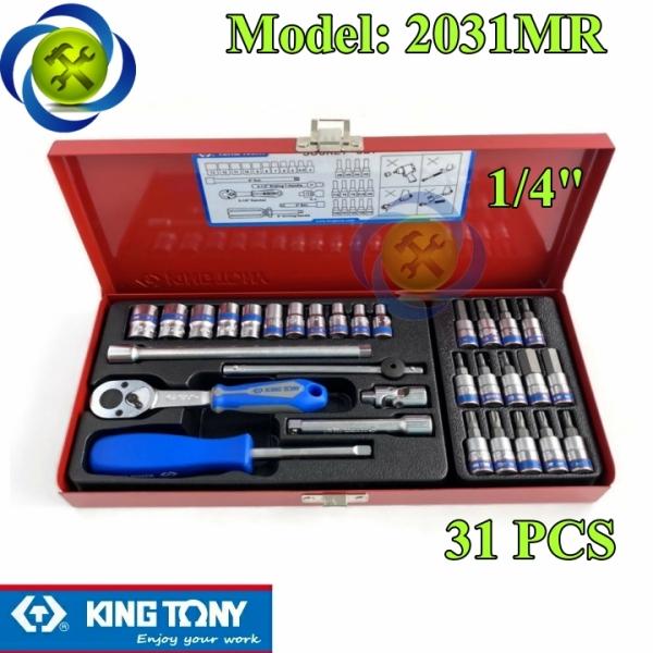 Bộ tuýp 1/4 Kingtony 2031MR 31 chi tiết hệ mét