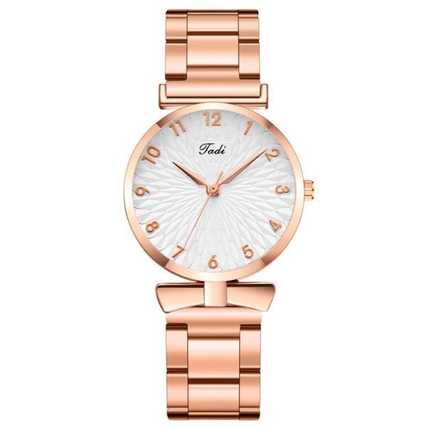 Cuddy Fashion Womens Watches2020Steel Chain Watch Womens Casual Student Watch Korean Fashion Quartz Watch
