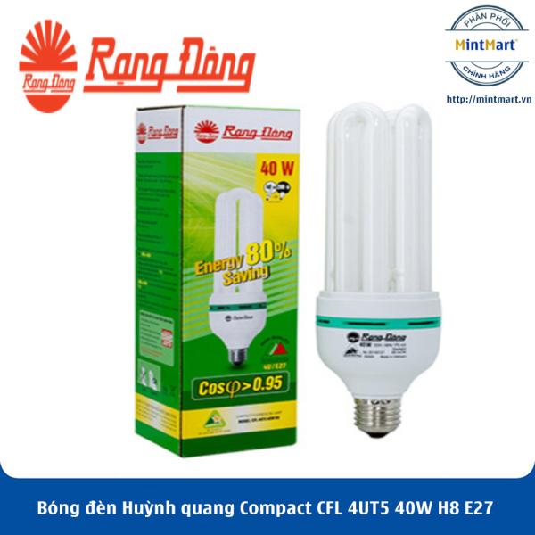 Bóng đèn Huỳnh quang Compact CFL 4UT5 40W H8 E27 Rạng Đông - Hàng Chính Hãng