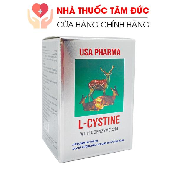 [HCM]Viên uống L-Cystine đẹp da sáng mịn da chống lão hóa giảm rụng tóc - Hộp 60 viên