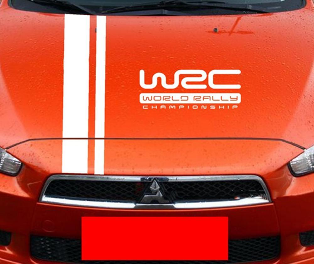 Tem dán WRC trên capo xe ô tô phong cách thể thao - 1