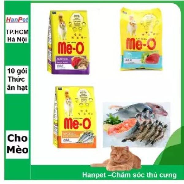 Thức ăn mèo dạng hạt khô cho mèo Lớn trưởng thành  Minino CáHồi350