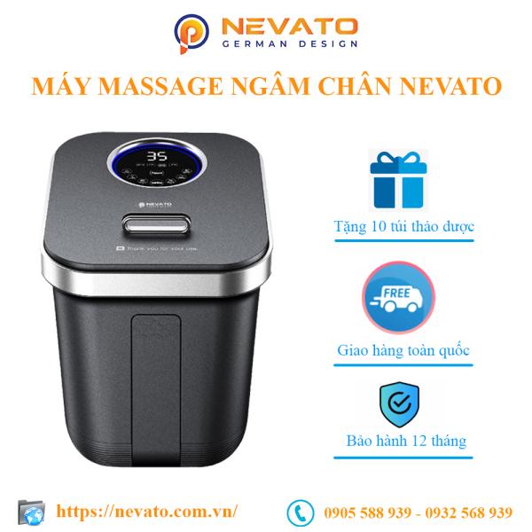Máy Massage Chân Tăng Sức Đề Kháng Nevato NVF605 Tặng 10 Túi Thảo Dược Ngâm Chân cao cấp