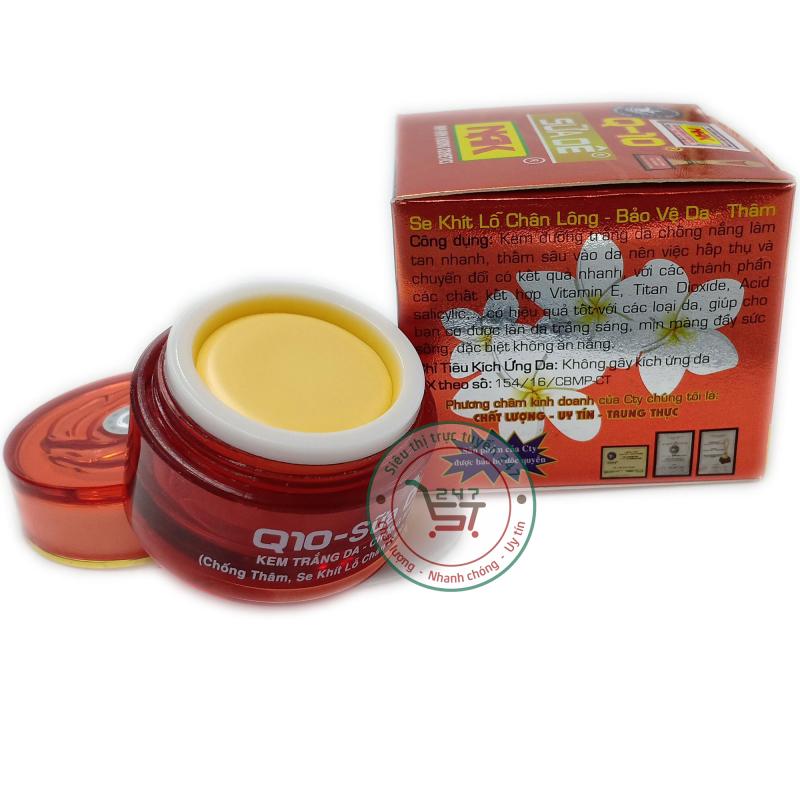 Kem trắng da Q10 Chống nắng Chống thâm Bảo vệ da 12g (Nâu đỏ)|Siêu thị trực tuyến 247