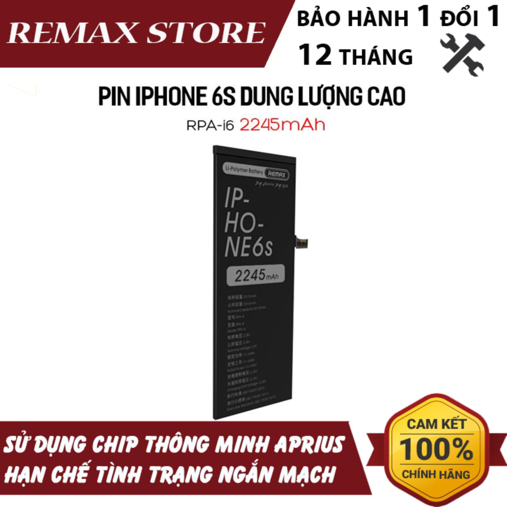 Deal Ưu Đãi Pin IPhone 6S Dung Lượng Cao Remax RPA-i6 2245mAh