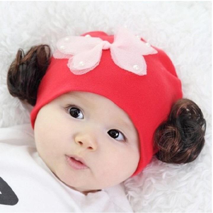 Giá bán Mũ tóc giả cotton cho bé gái cánh bướm(1-36 tháng)