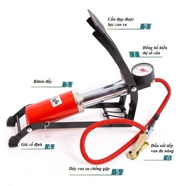 Bơm hơi đạp chân mini cho ÔTÔ , xe máy, bơm bóng đa năng và tiện dụng