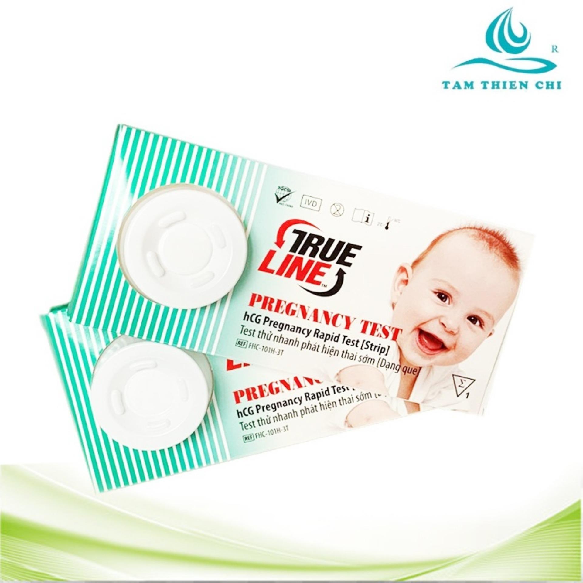 Que thử thai tỉ lệ chính xác cao Trueline Medicon Mỹ bộ 2 hộp (hộp 1 test)