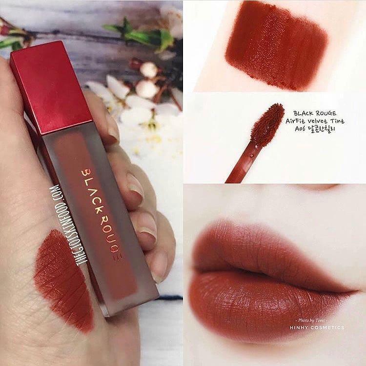 Son Kem Lì Black Rouge Air Fit Velvet Tint A06- Brick Red