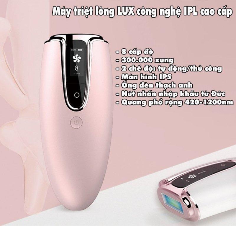 Máy tẩy lông vĩnh viễn. Thiết bị triệt lông IPL LUX. Dụng cụ tẩy lông tại nhà với công nghệ ánh sáng xung cho làn da tươi sáng. TẶNG KÈM kính + gel + dao cạo
