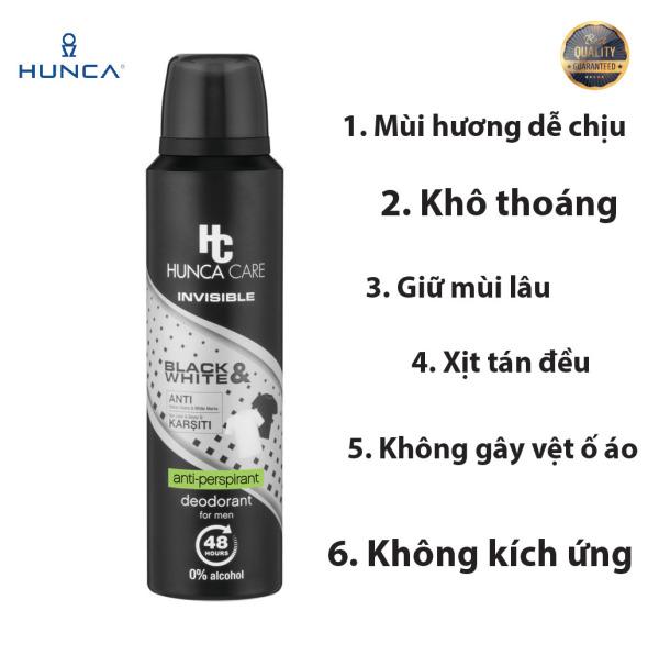 Xịt Khử Mùi cho nam Hunca Care ngăn mùi hôi 48h hương nam tính Trái cây, Cam Bergamot dành cho nam 150ML giá rẻ