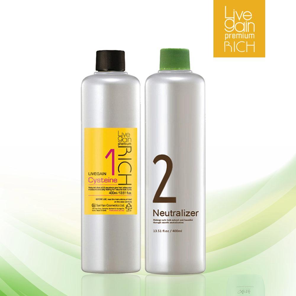 Uốn Dưỡng Livegain Premium Rich Cysteine 400ml + 400ml Hàn Quốc giá rẻ