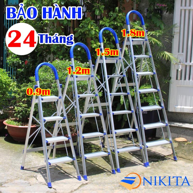 Thang nhôm ghế 4 bậc, 5 bậc, 6 bậc, 7 bậc Nikita Mã sản phẩm: dl04, dl05, dl06, dl07 tải trọng 150kg