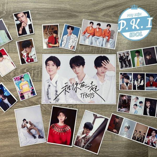 Bộ Sản Phẩm Nhóm Nhạc TFBOYS Combo Poster Và Card Cứng – QUÀ TẶNG KPOP