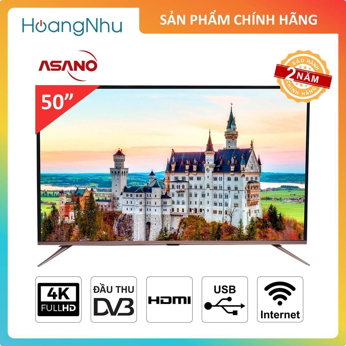 Bảng giá Smart TV UHD 4K Asano 50 inch 50EK3 (Tivi thông minh, UHD 4K, Wifi, Truyền hình kỹ thuật số) - Bảo hành 2 năm
