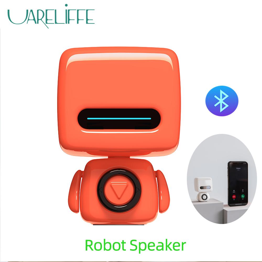 Fibest Loa nghe nhạc Xiaomi Uareliffe kiểu dáng Robot mini kết nối Bluetooth 5.0 tích hợp micro nút bấm 4 phía và dùng pin sạc - INTL