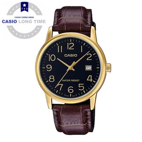 Đồng hồ nam Casio MTP-V002GL-1BUDF dây da chính hãng bán chạy