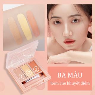 Kiss Belle Shop Kem che khuyết điểm 3 màu KISS BEAUTY (Hiệu quả che khuyết điểm và tạo đường viền) thumbnail