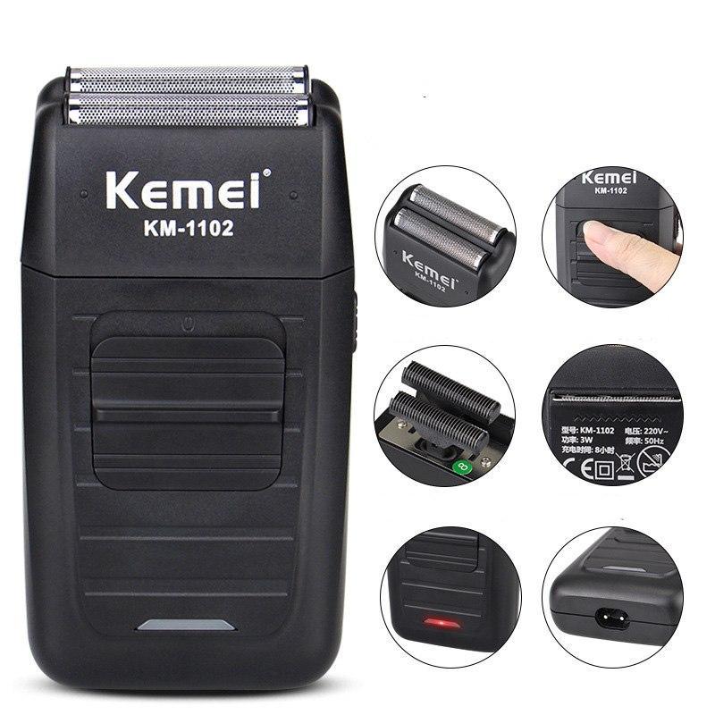 Máy cạo râu kemei - Máy Cạo Khô Kemei Km -1102 - máy cạo râu Fade kemei dành cho thợ tóc.