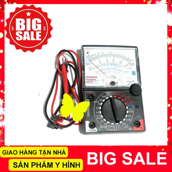 Đồng hồ đo kim vạn năng sunma YX-360TR với đèn và loa báo thông mạch [Kèm 2 Pin AA]