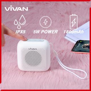 Loa Bluetooth mini Vivan VS1 chống nước chuẩn IPX5 an toàn sử dụng, Bluetooth 5.0 công suất 5W, âm thanh trung thực sống động, thiết kế gọn nhẹ dễ dàng mang theo, có thể kết nối đồng thời 2 loa, thích hợp cho cả Android và iOS thumbnail