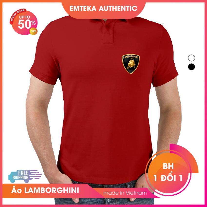 Áo thun Polo Xe Hơi ĐẲNG CẤP, áo Polo Xe Hơi in logo LAMBORGHINI lịch lãm,100% cotton với 5 màu thời trang, thoáng mát, thấm hút mồ hôi - Emteka Authentic