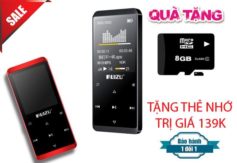 Máy Nghe Nhạc MP3/MP4 Lossless Ruizu D02 8GB + Tặng thẻ nhớ 8Gb Class 10