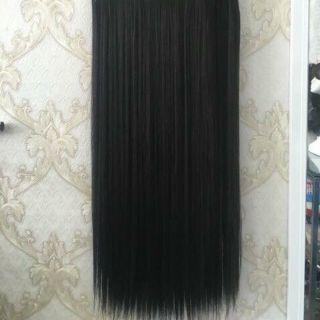 Tóc giả nữ kẹp FREESHIP kẹp thẳng dài 60cm 5