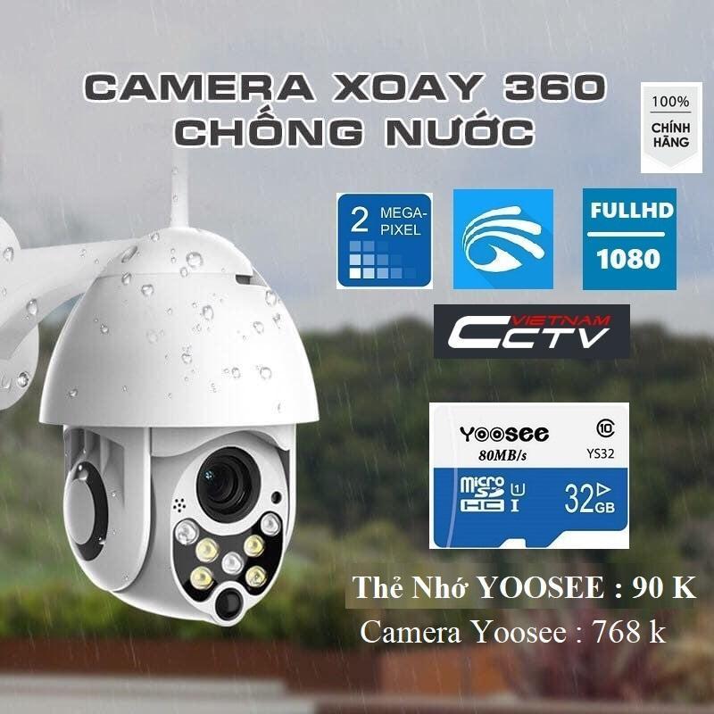 Camera Wifi Ip Ngoài Trời X2000 - FULLHD 1080  - Xoay 360°- Đèn Led- Đàm Thoại 2 Chiều-Hồng Ngoại Quay Đêm-Siêu Nét